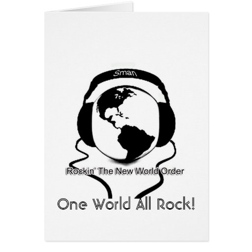 One World All Rock! Greeting Card