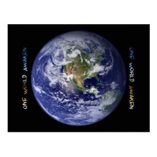One World Awaken Postcard