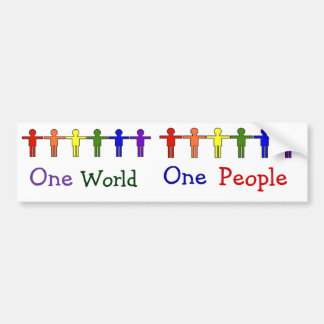 One World Bumper Sticker