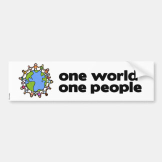 one world bumpersticker 2 bumper sticker