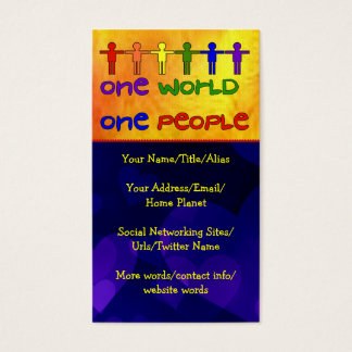 One World Business Card