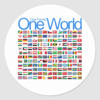 One World Classic Round Sticker