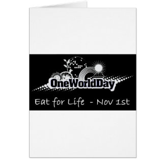 One World Day 1st November Greeting Card