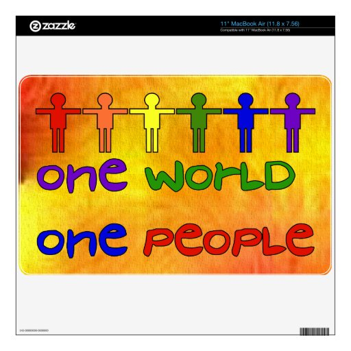 One World Decal For The MacBook
