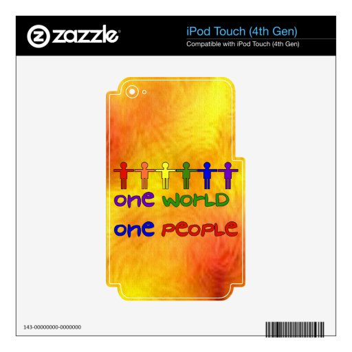 One World Decals For iPod Touch 4G