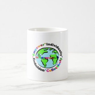 one world empower individually * embolden collecti classic white coffee mug
