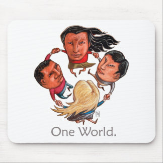 One World Global Community Mousepad