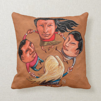 One World Global Community Throw Pillow