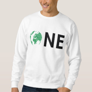 One World (Green/Black) Crewneck Pullover Sweatshirt
