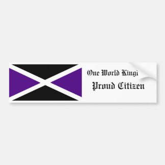 One World Kingdom Proud Citizen Bumper Sticker