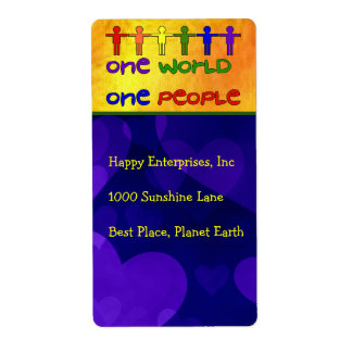 One World Shipping Label