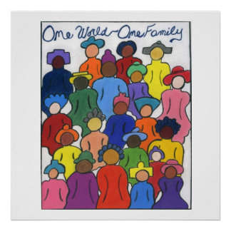 One World One Family Large Poster