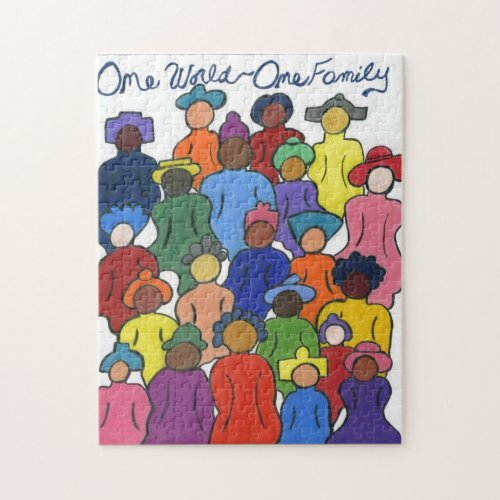 One World, One Family Multicultural Puzzle