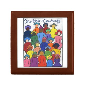 One World One Family Tile Gift Box