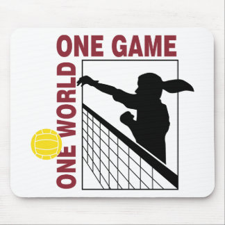 One World One Game Volleyball Gift Mousepads