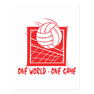 One  World One Game Volleyball Gift Post Card