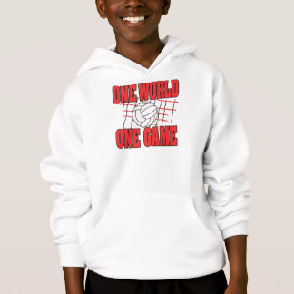 One World One Game Volleyball Hoodie