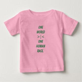 One World, One Human Race child shirt