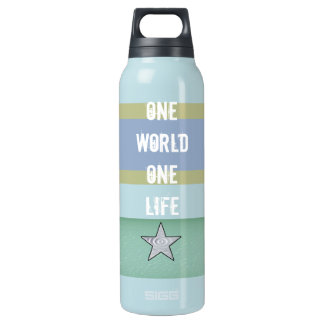 One world One Life  Insulated Water Bottle