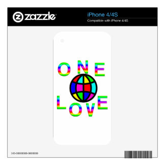 One World One Love Decals For iPhone 4