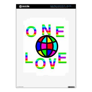 One World One Love iPad 3 Decals