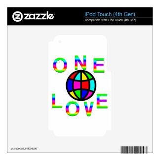One World One Love iPod Touch 4G Decals