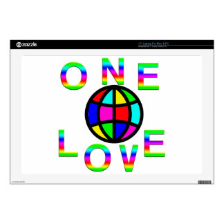 One World One Love Laptop Skins