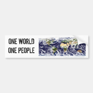 ONE WORLD ONE PEOPLE BUMPER STICKER