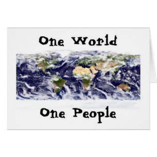 One World, One People Card