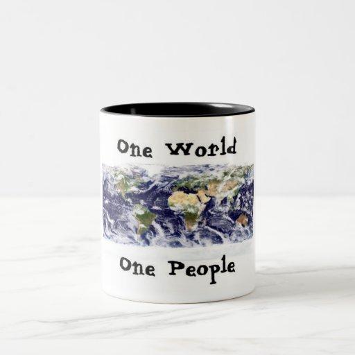 one world, one people coffee mug