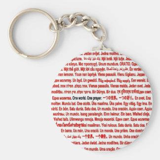 One world. One prayer. Keychain