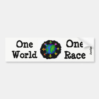 One World, One Race Bumper Sticker