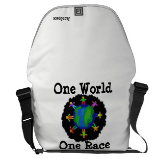 One World, One Race Courier Bag