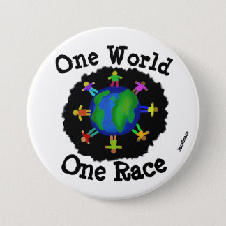 One World, One Race Pinback Button