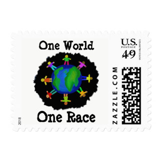 One World, One Race Postage