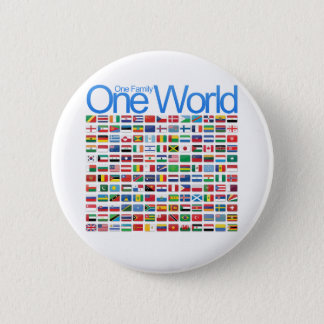 One World Pinback Button
