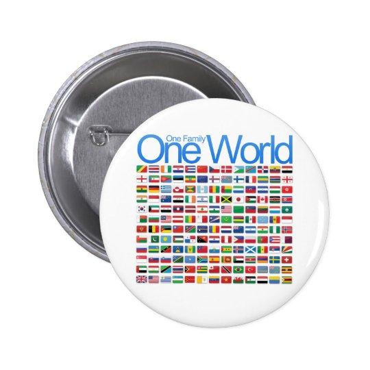 One World Pinback Button