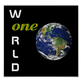 One World Poster Print