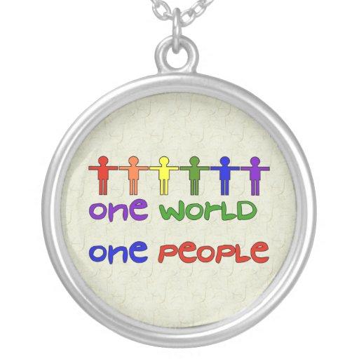 One World Round Pendant Necklace
