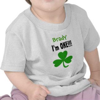 One Year 1st Birthday Lucky Shamrock V05 T-shirts