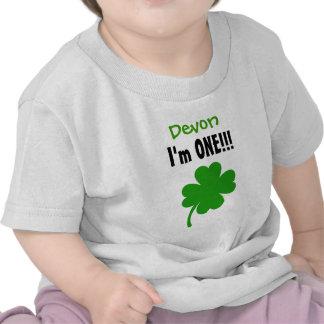 One Year 1st Birthday Lucky Shamrock V06 Tshirts