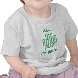 One Year 1st Birthday Lucky Shamrock V09 Tshirts