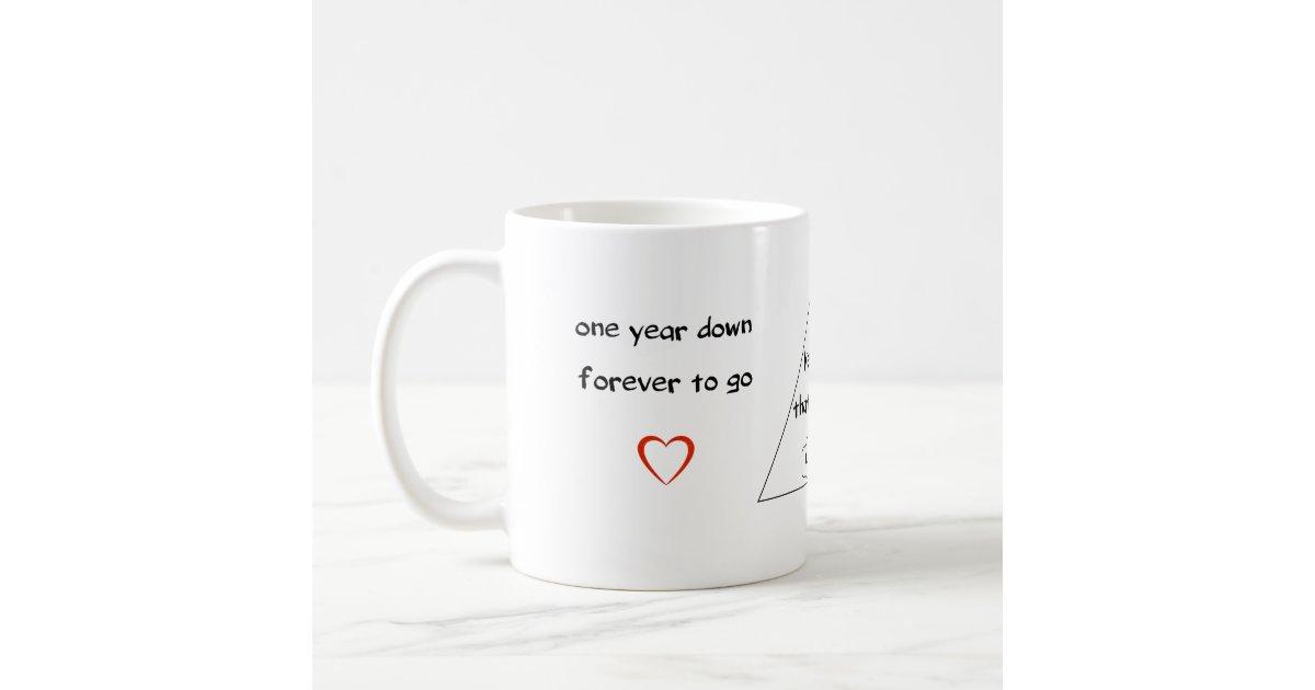 One Year Anniversary Gift For Girlfriend Coffee Mug Zazzle Com