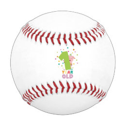 One Year first Birthday Party Z80cw Baseball