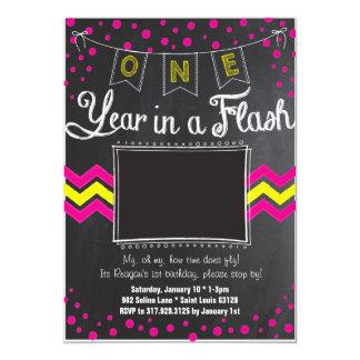 One Year In A Flash Birthday Invitation