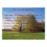 One Year Of Happiness Poster