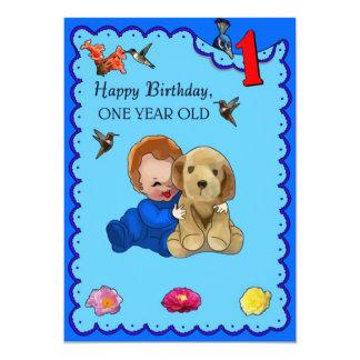 One Year Old Birthday Custom Announcement