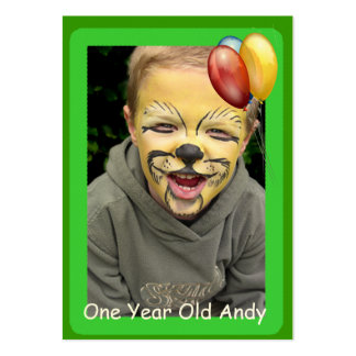 One Year Old Birthday Photo Cards Business Card Templates