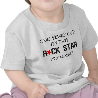 One year old by day tee shirts