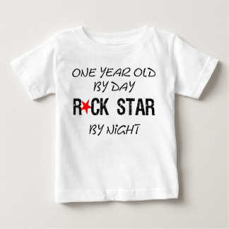 One year old by day infant t-shirt